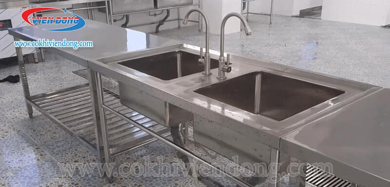 bồn rửa công nghiệp 2 hố