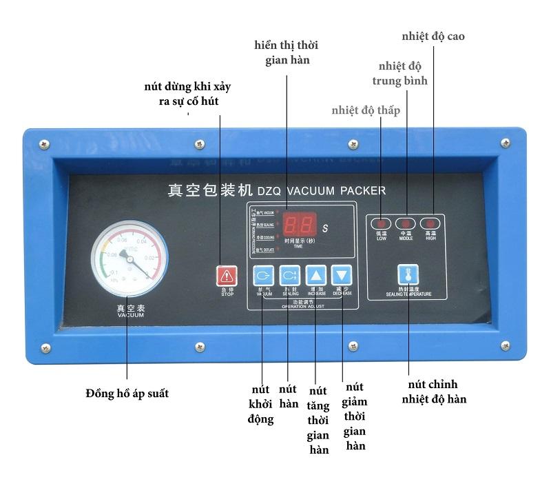 bảng điều khiển máy hút chân không công suất lớn DZ400