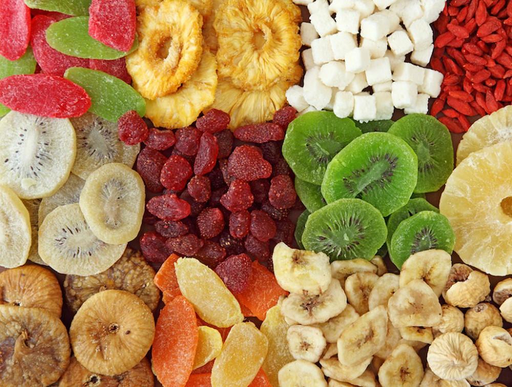 các loại hoa quả sấy