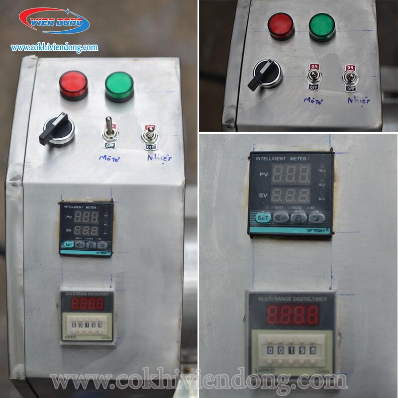 máy rang chà bông bằng điện