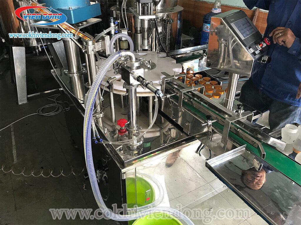 Máy đóng nắp chai tự động trà sữa